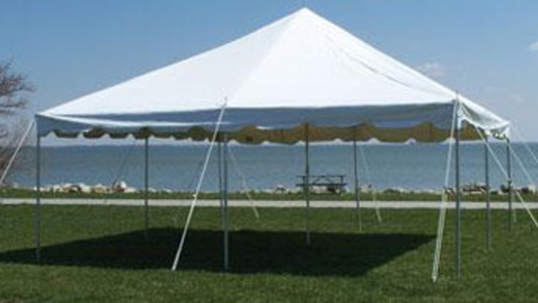 Picture of a 20 X 20 Pole Tent