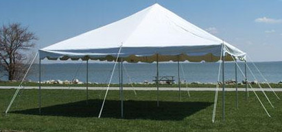 Picture of a 20 X 20 Pole Tent & 20 X 20 Pole Tent rentals online - $302/hour