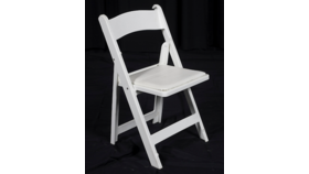 Image of a White Padded Resin Chairs
