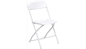 Image of a White Metal-Plastic Folding Chairs