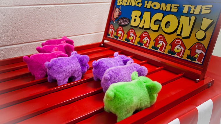 Bring Home the Bacon : Carnival Game : goodshuffle.com