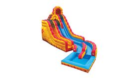 Image of a Fire N Ice Dual Lane Wet Slide