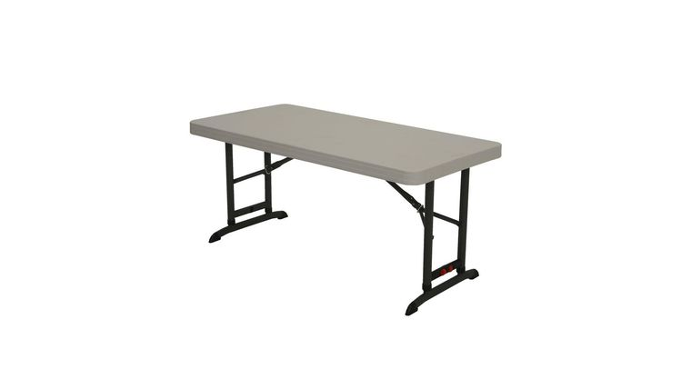 Picture of a 4ft Foldable Table also Height Adjustable