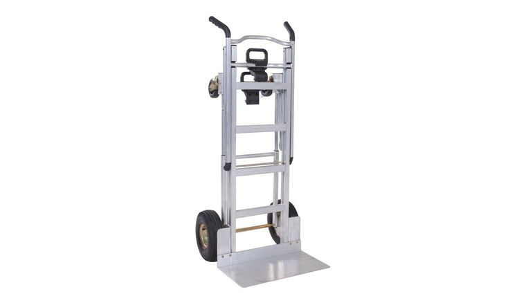 Picture of a 1000 lb. 3-In-1 Aluminum Assisted Hand Truck with Flat Free Wheel