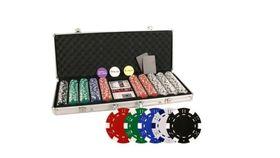 Image of a Da Vinci 500 Poker Set with Chips, Case, Dealer Buttons, Cards