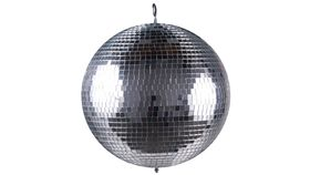 "Image of a 12"" Mirror Ball, 2-Pin Spots and Mirror Ball Motor"
