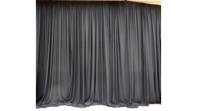 Image of a Pipe and Drape Black Drape 15' X 10'