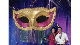 Image of a Giant Mardi Gra Mask
