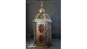 Image of a Moroccan Lantern Deep Orange