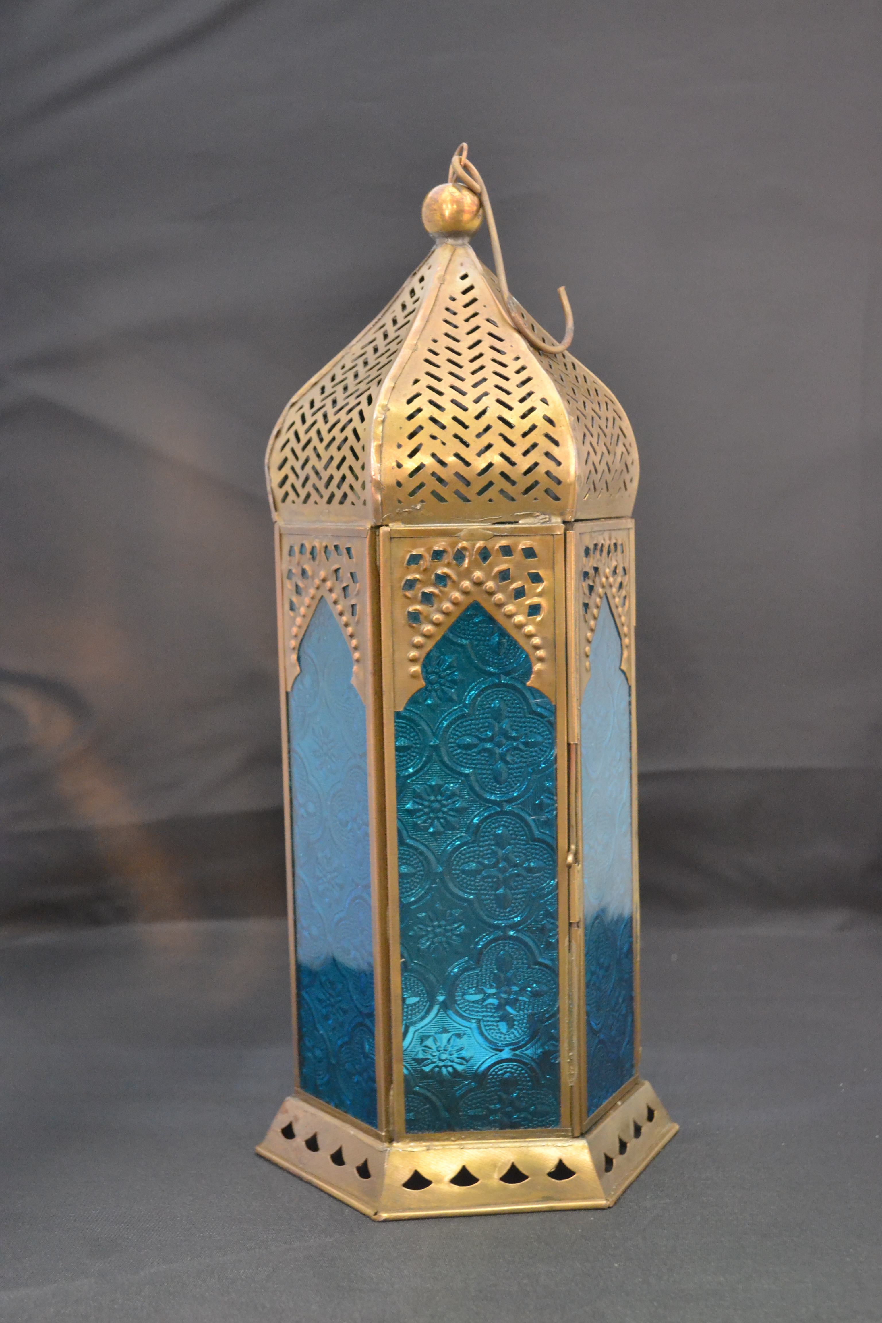 Moroccan Lantern Gold And Turquoise Ornate Rentals Online