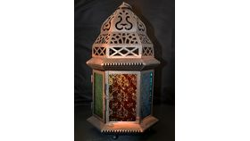 Image of a Moroccan Lantern Wide Multi Color