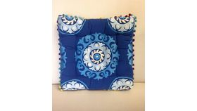 Image of a Moroccan Pillow Square Royal Blue