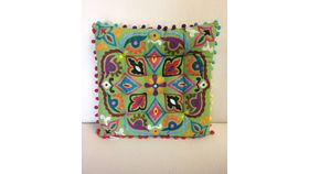 Image of a Moroccan Pillow Square Spring Green