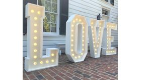 Image of a 4' Tall LED LOVE Marquee Letters