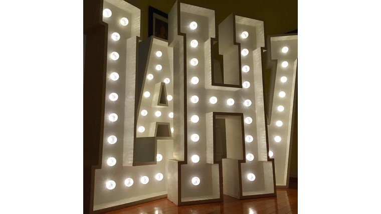 Image of a 4' Tall LED Marquee Letters