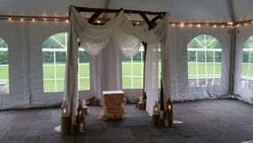 Image of a Rustic wedding arch