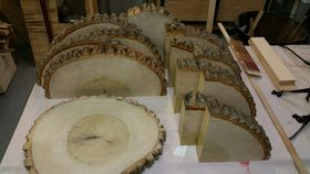 Image of a Rustic wood slices for a decorative accent