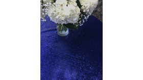 "Image of a Sequin - Navy Blue 120"" Round"