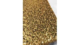 "Image of a Sequins - Metallic gold large sequin runners (10"" x 90"")"