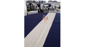 "Image of a Sequins - White large sequin runners (10"" x 90"")"