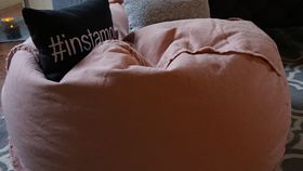 Image of a Dusty Rose Bean Bag Chair