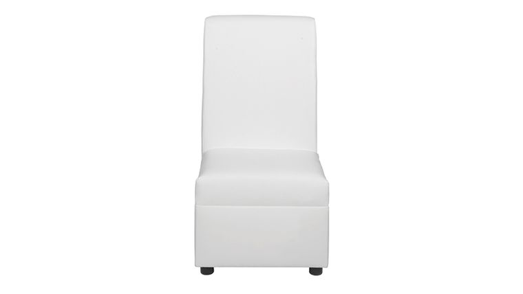 Picture of a Sophistication White Leather Chair