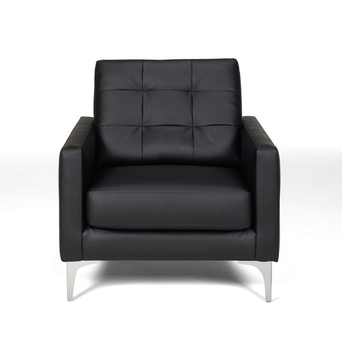 Picture Of A Metro Black Leather Chair