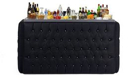 Image of a 8' Crystal Black Bar Surround