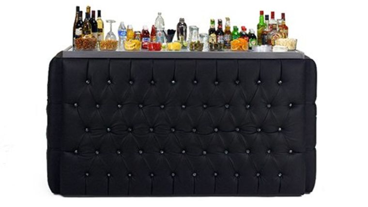 Picture of a 8' Crystal Black Bar Surround