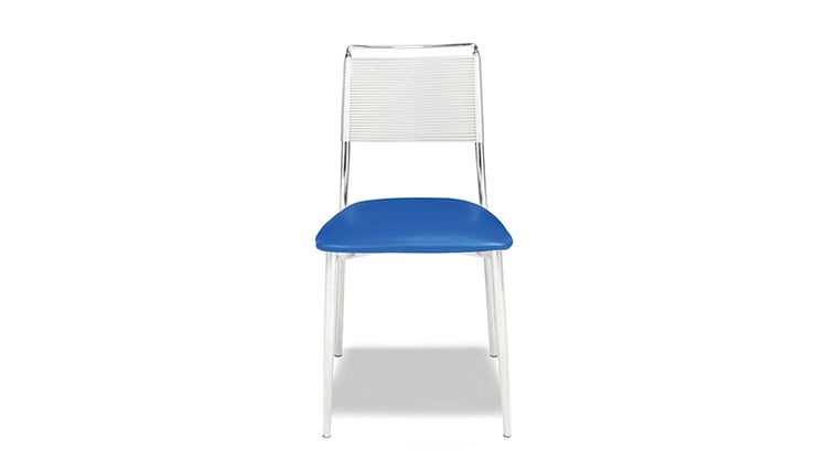Picture of a Silk Back Armless Chair - Blue