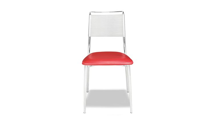 Image of a Silk Back Armless Chair - Red