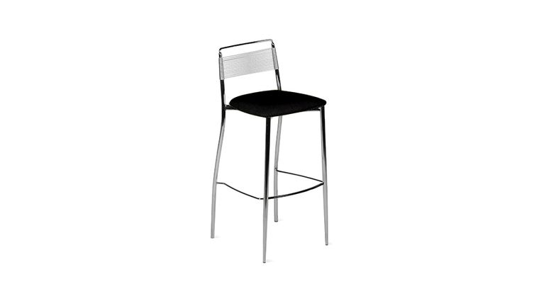 Picture of a Silk Back Bar Stool - Black