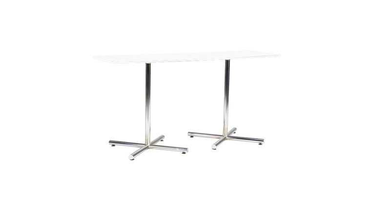 Picture of a Rectangle Cafe Table with Chrome Base
