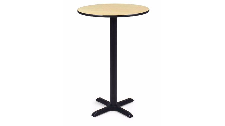 "Picture of a 30"" Round Cafe Table - Maple Top, Black Base"