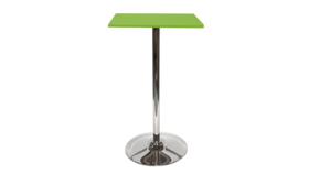 Image of a Spectrum Bar Table - Green, Tulip Base