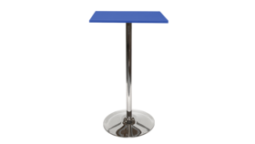 Image of a Spectrum Bar Table - Blue, Tulip Base
