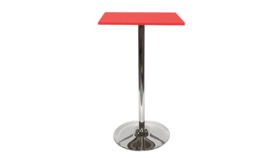Image of a Spectrum Bar Table - Red, Tulip Base