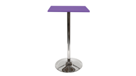 Image of a Spectrum Bar Table - Purple, Tulip Base