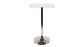 Image of a Square Bar Table - White, Tulip Base