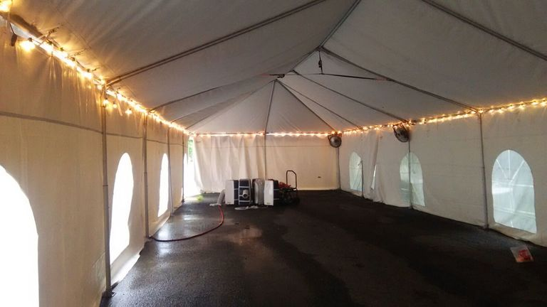 Perimeter-Lit Tents.  It's All About The Lighting : goodshuffle.com