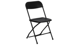 Image of a Black Folding Hercules Chair
