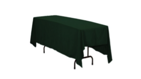 "Image of a Colormax - Hunter Green Tablecloths (88"" x 130"")"