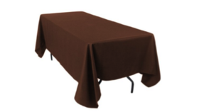 "Image of a Colormax - Brown Tablecloths (60"" x 120"")"