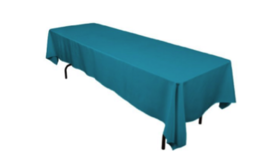"Image of a Colormax - Teal Tablecloths (60"" x 120"")"