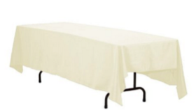"Image of a Colormax - French Vanilla Tablecloths (120"" Round)"