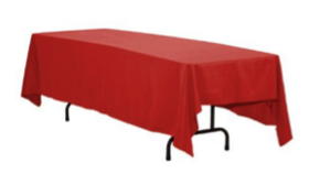 "Image of a Colormax - Red Tablecloths (108"" Round)"