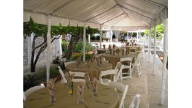 Image of a 10' x 40' Marquee Tent