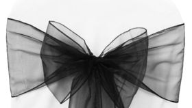 "Image of a Organza - Black Ribbons & Sashes (72"" L x 8"" W)"