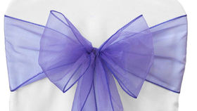 """Image of a Organza - Lavender Ribbons & Sashes (72"""" L x 8"""" W)"""