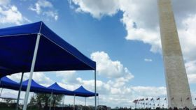Image of a 10' x 10' Economy Tent (Blue)